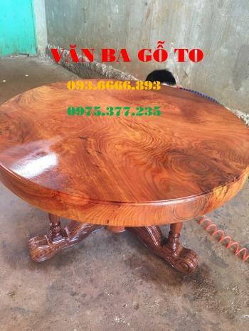 Bàn tròn gỗ_BTGD 004
