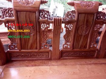 Bàn ghế gỗ Tần Thủy Hoàng tay 12 gỗ hương đá