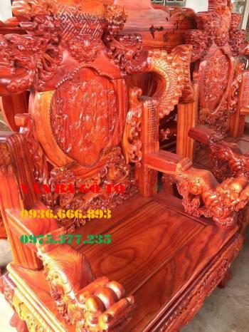 Bàn ghế gỗ Đỉnh Nghê tay 14 gỗ Hương nam phi