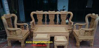 Salon gỗ| Bàn ghế gỗ Minh triện tay 12