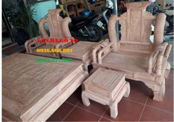 Bàn ghế gỗ| Tần thủy hoàng hương đá cột 12 cm