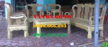 Bàn ghế gỗ| Bàn ghế quốc triện 8 món gỗ gụ
