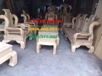 Bàn ghế gỗ| Bàn ghế Tần Thủy Hoàng gỗ gụ 6 món tay 12