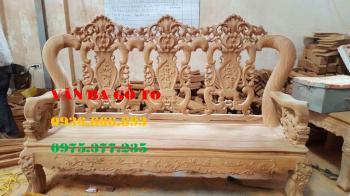 Bàn ghế gỗ| Minh louis hoa lá tây đẹp