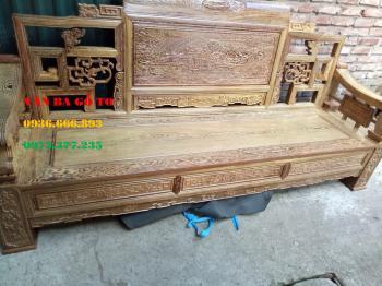 Bàn ghế gỗ  Bàn ghế Sơn Thủy Gỗ Mun 6 món