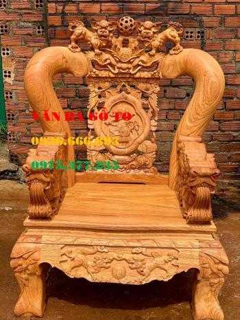 Bàn ghế gỗ| Minh quốc nghê gõ đỏ cột 14 cm