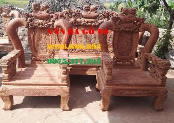 Bàn ghế gỗ| Minh quốc nghê đỉnh hương vân cột  12 cm