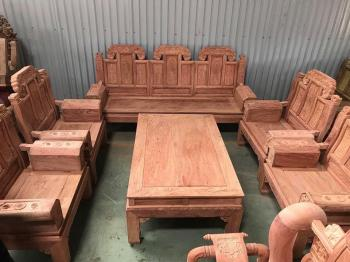 Bàn ghế gỗ| Bộ Á Âu Trương Voi 10 món