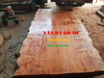 Bàn ăn  Mặt bàn gỗ lát nu_MBA108