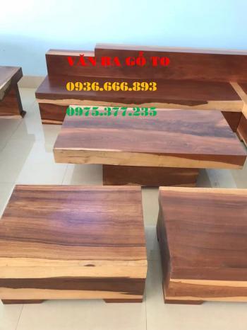 Sofa gỗ nguyên khối tại An Giang