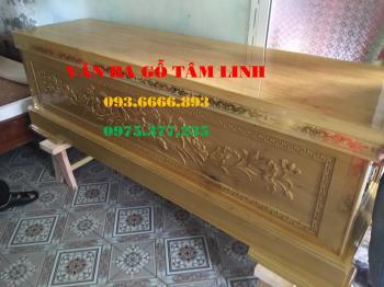 Quan tài gỗ vàng tâm tại Quảng Ninh