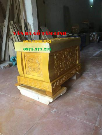 Quách hỏa táng gỗ Vàng Tâm tại Nam Định