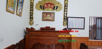 Bàn thờ gỗ gõ đỏ tại Văn Ba Gỗ To