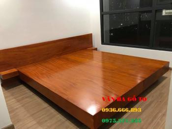 Giường ngủ gỗ nguyên khối