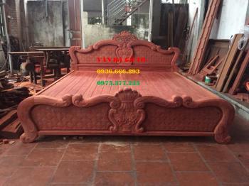 Giường ngủ gỗ hương huyết