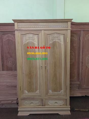 Tủ quần áo 2 buồng gỗ gụ