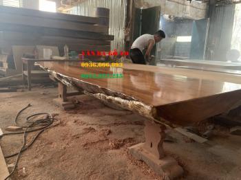 Mặt bàn gỗ nguyên tấm tại Cà Mau