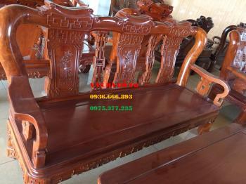 Bàn ghế gỗ - Minh Triện cột 12cm