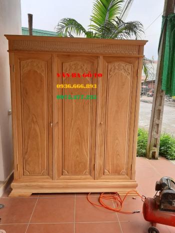 Tủ 3 buồng gỗ gõ đỏ
