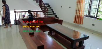 Sofa gỗ lim nguyên khối - SOGL300