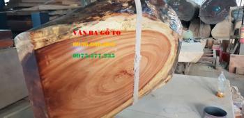 Mặt bàn gỗ gõ đỏ Pachy Vân đẹp tự nhiên