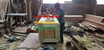 Quách gỗ vàng tâm ngoại cỡ LOẠI Thành 10cm